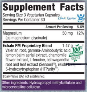 Exhale PM supplement