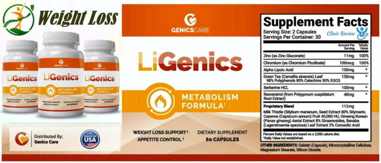 LiGenics Reviews –does This Weight Loss Supplement Work or Scam?