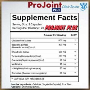 Ingredients ProJoint Plus